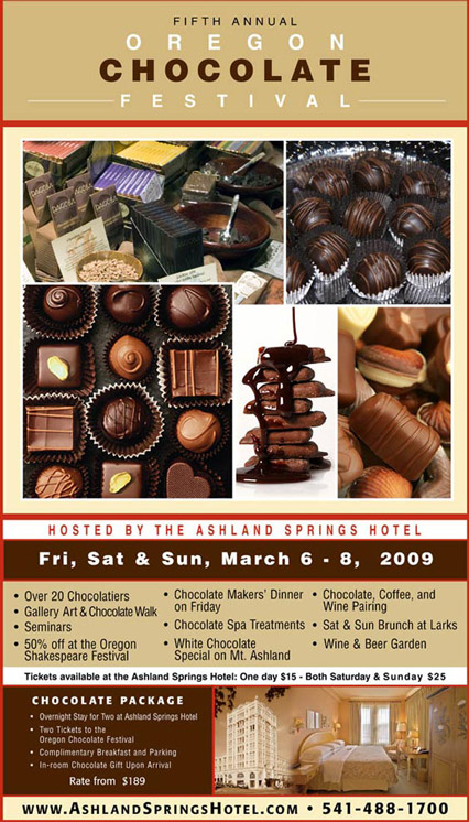 2009 Oregon Chocolate Festival Poster