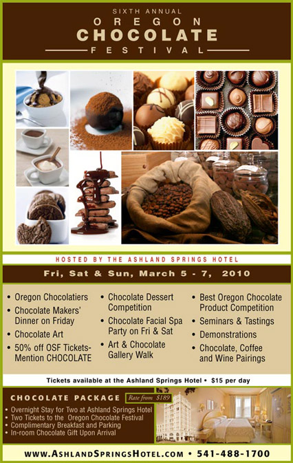 2010 Oregon Chocolate Festival Poster